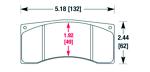 Тормозные колодки Hawk Performance HB105 для JBT FB4P1