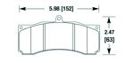 Hawk Performance HB688 тормозные колодки для JBT CB6P