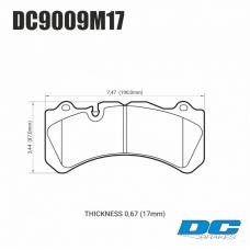 Колодки тормозные DC9009M17 DC brakes Race Track, Brembo 6 поршней тип J, N / PORSCHE 911 (997)