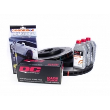 КОМПЛЕКТ:JEEP GRAND CHEROKEE SRT8 09-> Торм. диски DBA T3+колодки DC brakes RACE+шланги GOODRIDGE