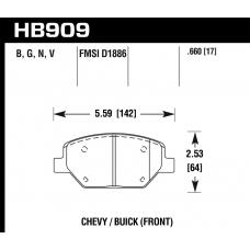 Колодки тормозные HB909Y.660